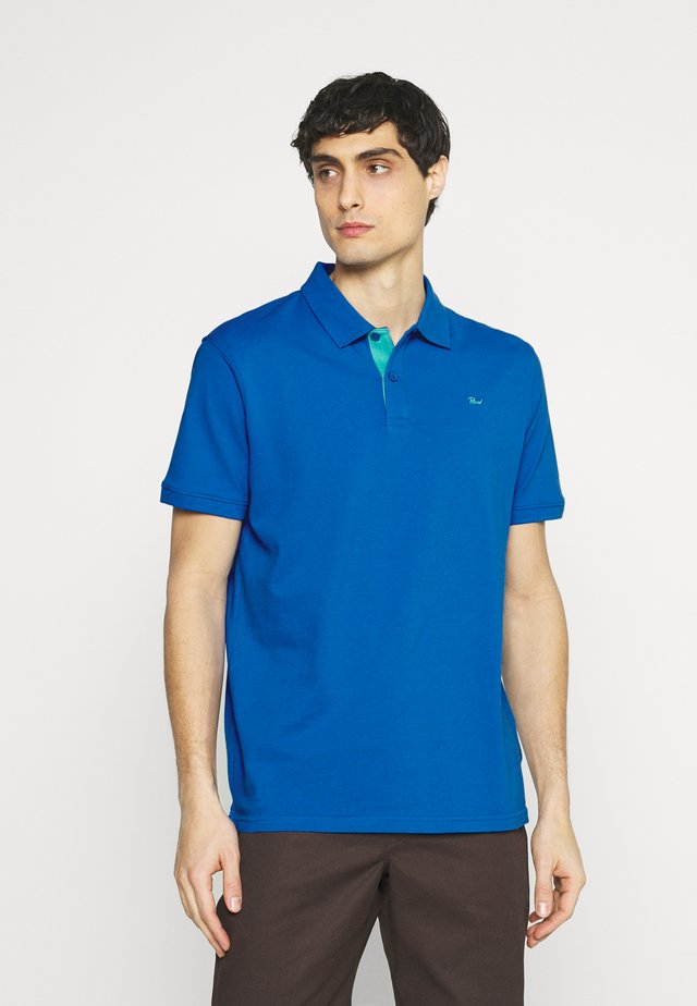 Polo - azure blue/paper green
