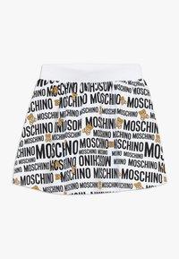 MOSCHINO - SKIRT ADDITION - Minisukně - optic white - 0