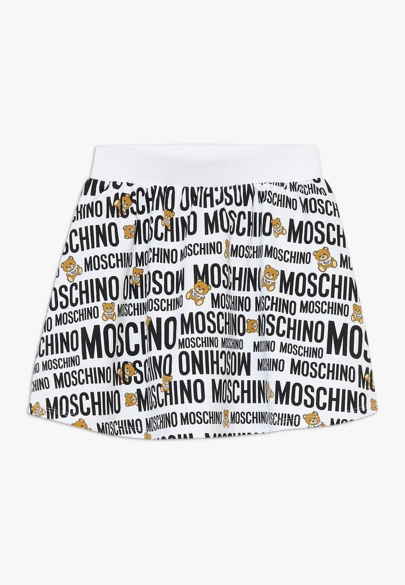 MOSCHINO - SKIRT ADDITION - Minisukně - optic white