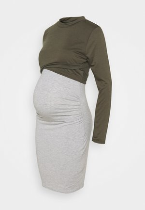 2IN1 LAYERED DRESS - Jerseykjoler - grey