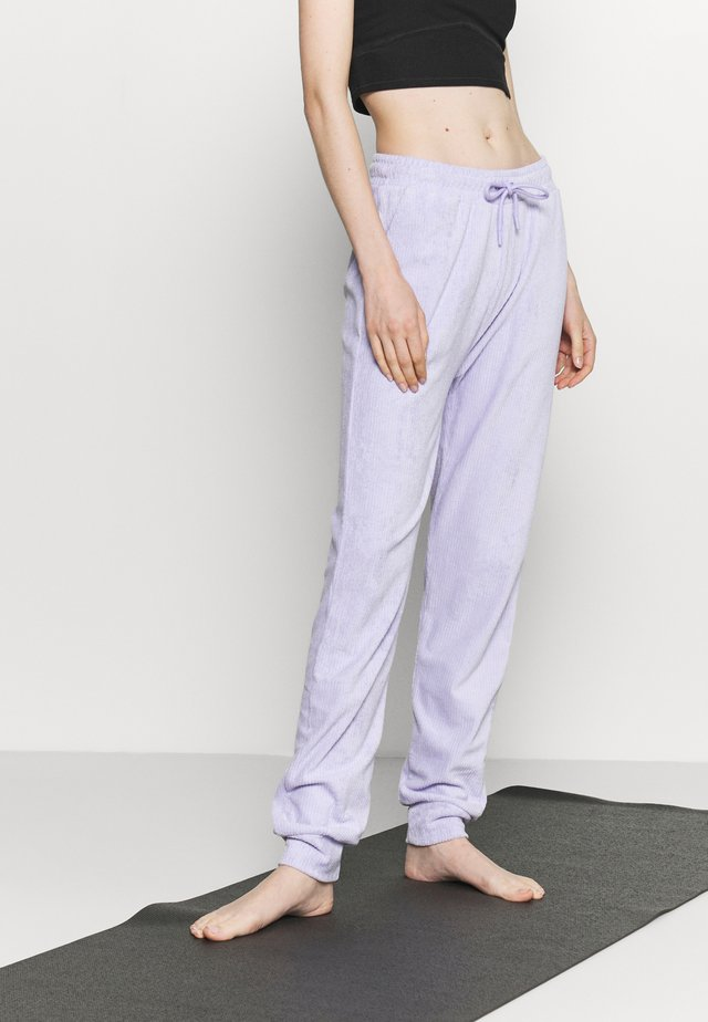 HIGH WAIST TOWELLING - Tracksuit bottoms - lilac