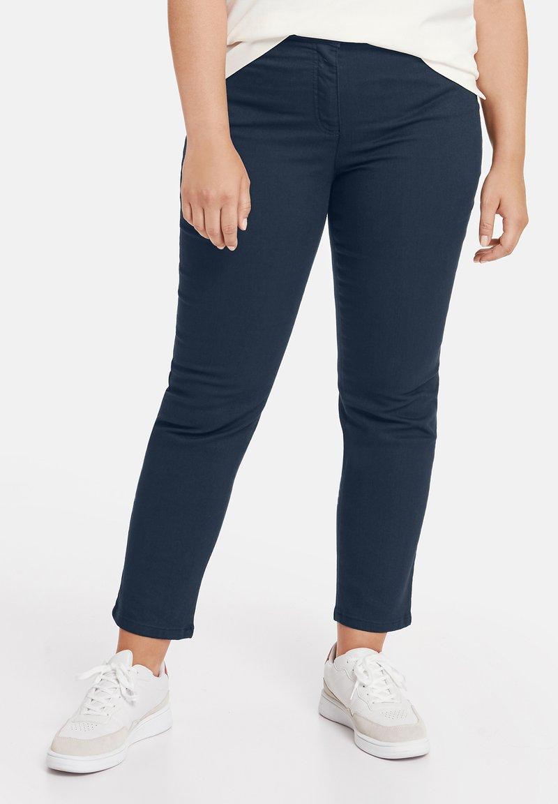 Samoon - BETTY - Trousers - navy
