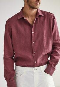 Massimo Dutti - SLIM-FIT - Shirt - bordeaux - 3