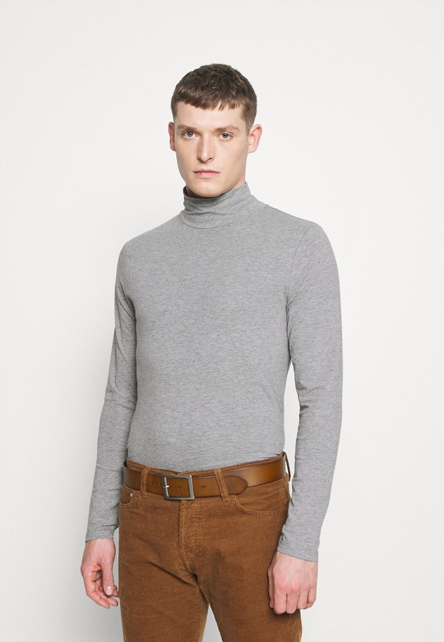 TURTLE NECK TEE - Top s dlouhým rukávem - light grey mel