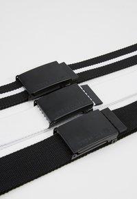 Urban Classics - BELT 3 PACK - Belt - black/white - 5