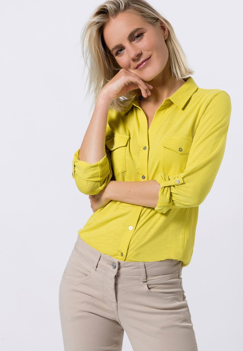 zero - Button-down blouse - yellow lime