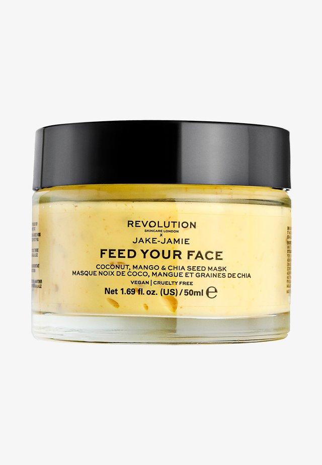 REVOLUTION SKINCARE X JAKE – JAMIE COCONUT, MANGO & CHIA SEED RADIANT GLOW FACE MASK - Face mask - -