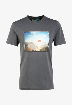 SURFERS VIEW - Print T-shirt - asphalt