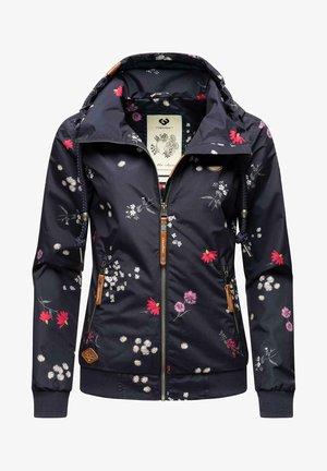 NUGGIE FLOWERS - Waterproof jacket - dark blue