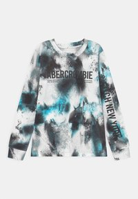 Abercrombie & Fitch - PRINT LOGO  - Long sleeved top - blue - 0