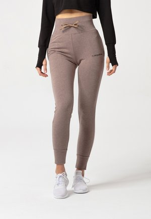 BELLE SWEATPANTS - Verryttelyhousut - brown