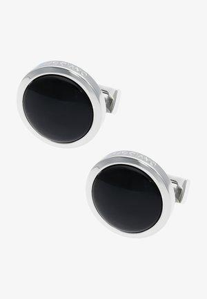 Manchetknoop - rhodium/black