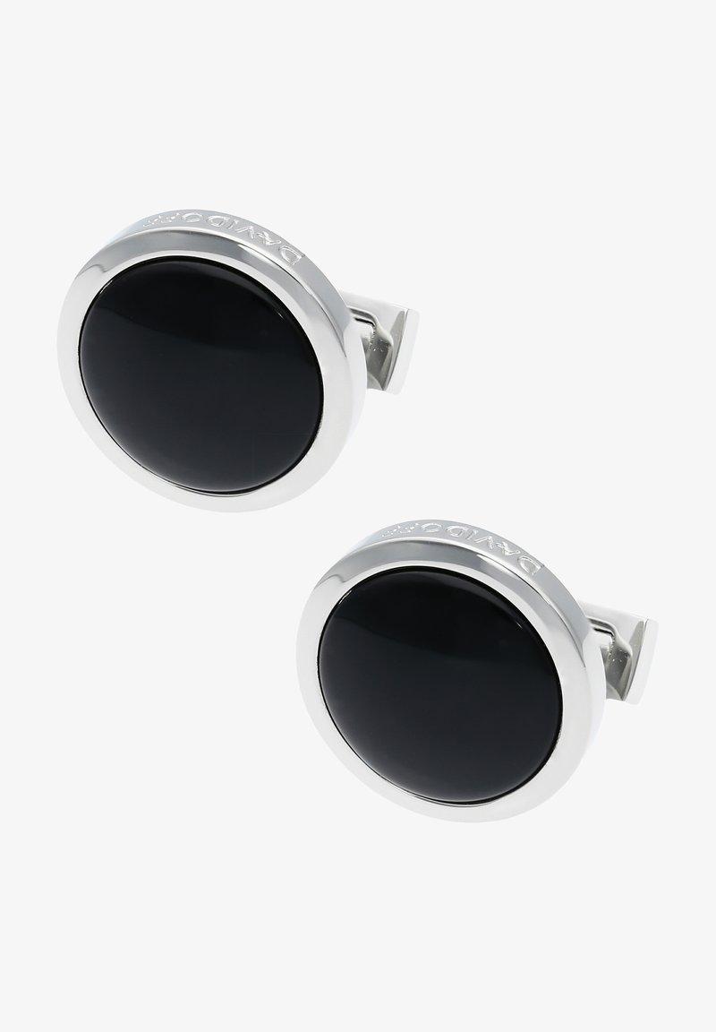 DAVIDOFF - Cufflinks - rhodium/black