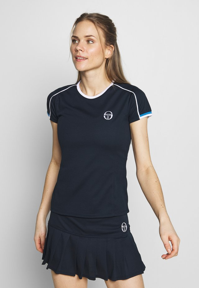 PLIAGE - T-shirt con stampa - navy/white