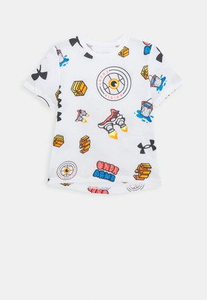 HOOPS STICKER TEE - Print T-shirt - white