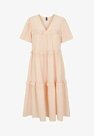 Day dress - apricot cream
