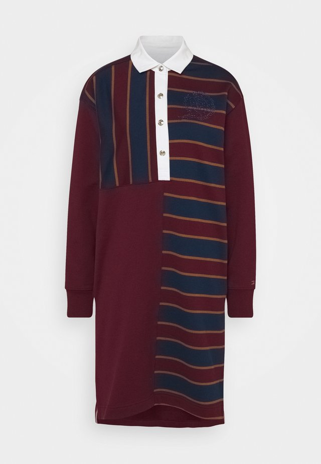 ICON OVERSIZED RUGBY DRESS  - Day dress - deep rouge
