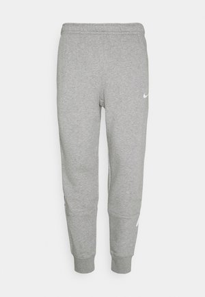 REPEAT - Pantalon de survêtement - dark grey heather/white