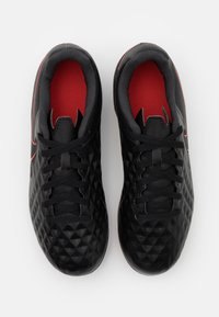 Nike Performance - TIEMPO JR LEGEND 8 CLUB FG/MG UNISEX - Tekonurmikengät - black/dark smoke grey/chile red - 3