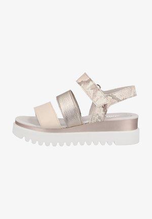 Platform sandals - panna/puder/rose