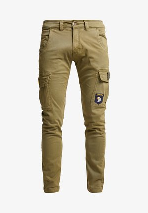 PETROL PATCH - Cargo trousers - oliv