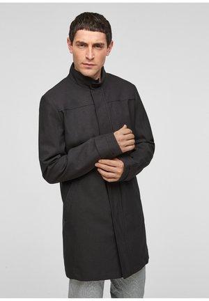 MET OPSTAANDE KRAAG - Short coat - black melange