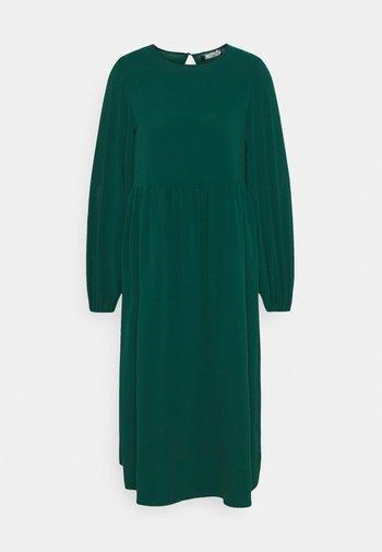 OVERSIZED MIDI DRESS - Day dress - dark green