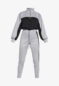 Missguided Petite - PETITE HIGH NECK ZIP TOP AND LEGGING - Tracksuit - black/grey - 4