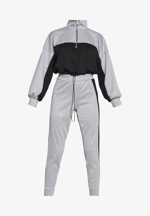 PETITE HIGH NECK ZIP TOP AND LEGGING - Chándal - black/grey