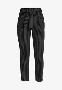 ONLY - ONLNICOLE PINSTRIPE PANTS - Stoffhose - black - 3