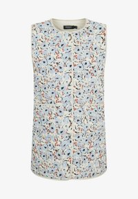 Waistcoat - blue peonia print
