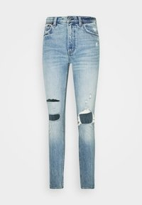 Abercrombie & Fitch - KNEE DESTROYED - Jeans Skinny Fit - destroyed denim - 3