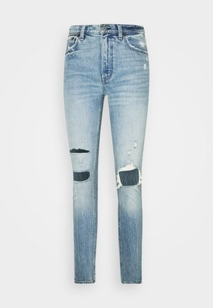 KNEE DESTROYED - Jeansy Skinny Fit - destroyed denim