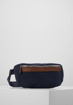 UNISEX - Bum bag - dark blue/cognac