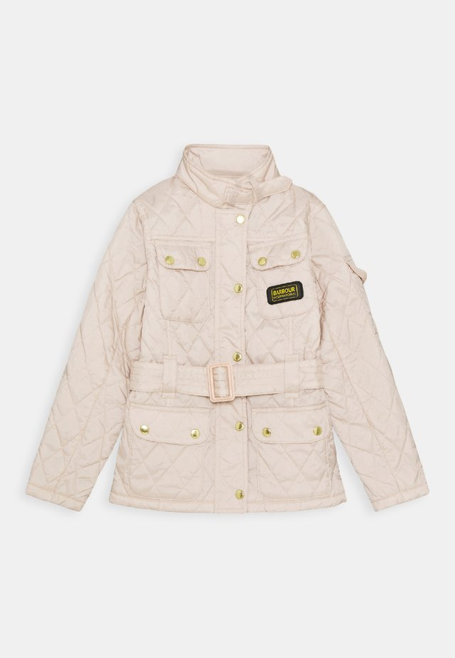 GIRLS FLYWEIGHT INTERNATIONAL QUILT - Light jacket - oyster/oyster