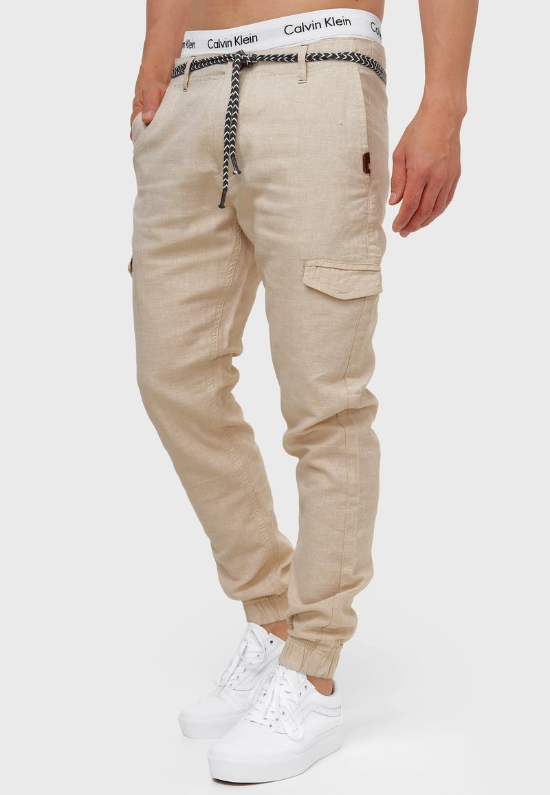 INDICODE JEANS - BOOTH - Cargo trousers - fog