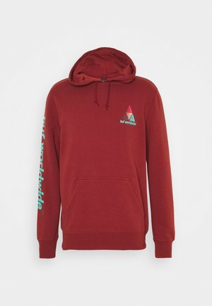 PRISM HOODIE - Sweatshirt - brick