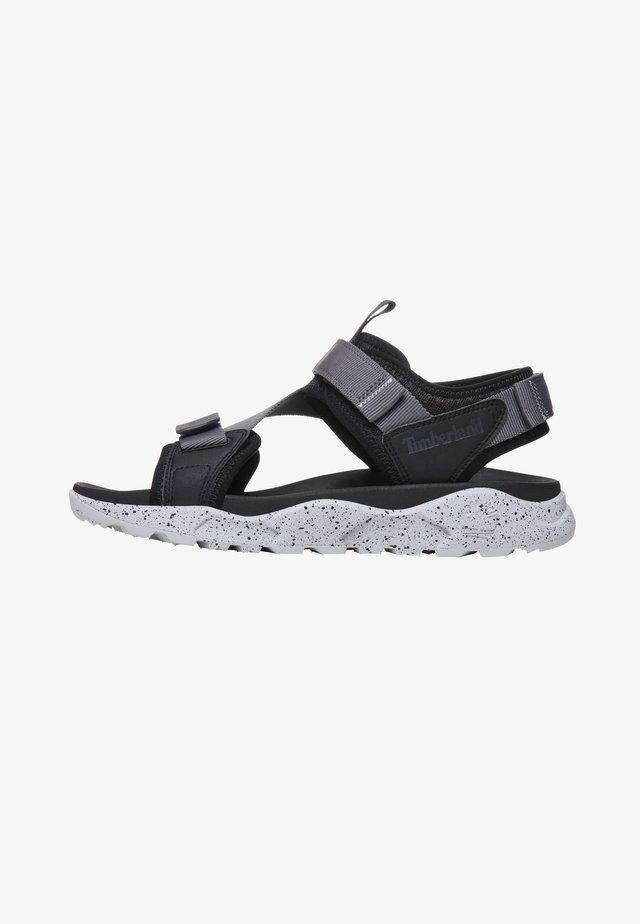 RIPCORD - Sandaalit nilkkaremmillä - black