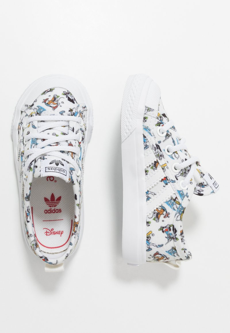 adidas Originals - NIZZA DISNEY SPORT GOOFY - Trainers - footwear white/scarle/core black