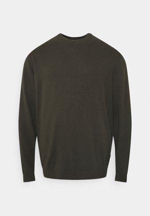 ONSALEX SOLID CREW NECK - Stickad tröja - peat