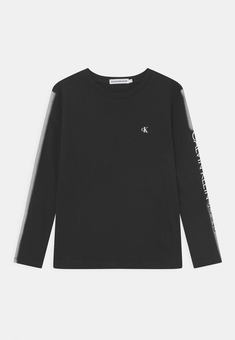 Calvin Klein Jeans - INSTITUTIONAL SPRAY - Long sleeved top - black