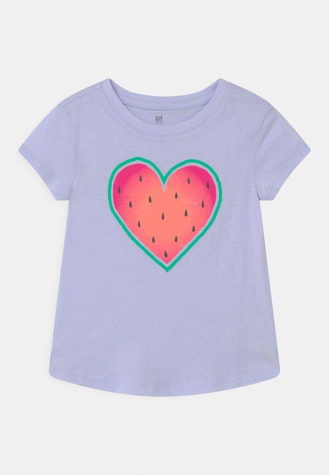 T-shirt med print - sunrise blue