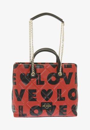 Handbag - red/black
