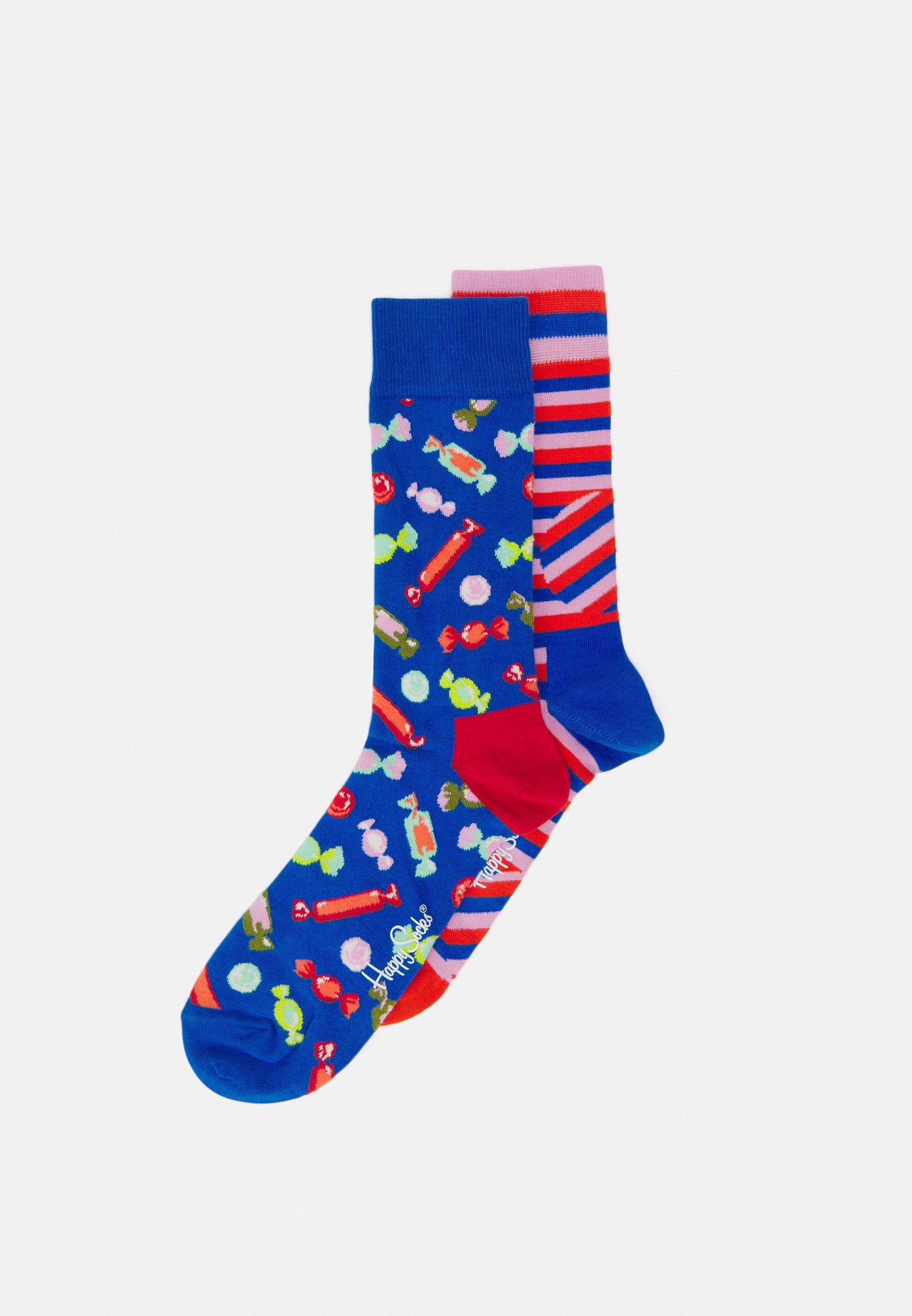 Men CANDY JUMBO DOT STRIPE SOCK 2 PACK - Socks