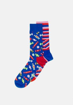 CANDY JUMBO DOT STRIPE SOCK 2 PACK - Socks - multi