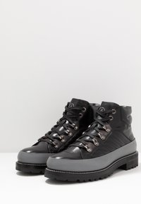 Bogner - NEW LECH - Lace-up ankle boots - black/silver - 2