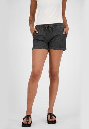 JANEAK - Denim shorts - black denim