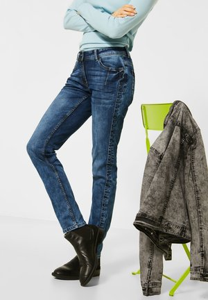 MIT NIETEN GALON - Slim fit jeans - blau