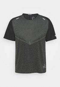 TECHKNIT ULTRA  - Print T-shirt - black/smoke grey