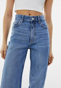 Bershka - Straight leg jeans - dark blue - 3